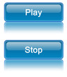 Blue Web 2.0 Play / Stop Buttons