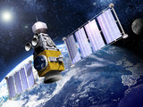 Military Satellite in Orbit