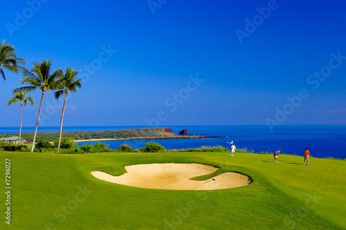 Leinwandbild Motiv Coastal Golf