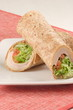 whole grain tortilla smoked turkey wrap