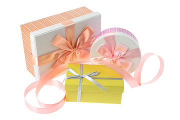 Gift Boxes and Ribbon