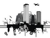Fototapety vector city illustration