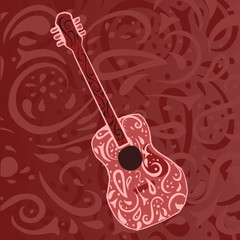 country music background - acoustic guitar