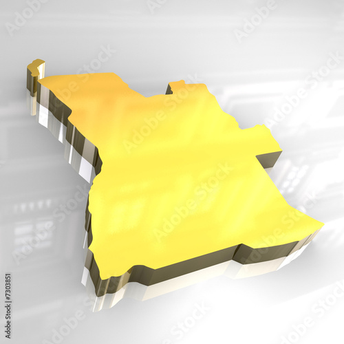 3d flag map of angola