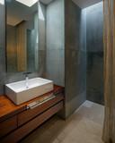 Modern minimalist bathroom poster