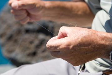 Manos de pescador