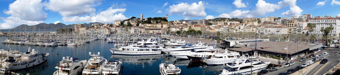 Port de Cannes, French riviera.