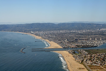 Santa Monica, California and surrounding area, seen from above