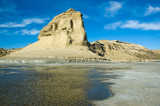 Cliff, edge of the sea, Peninsula Valdes, Patagonia Argentina. poster