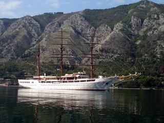 Ship in the Bay of Kotor