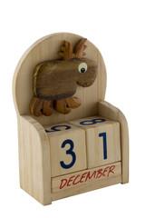 wooden calendar with deer