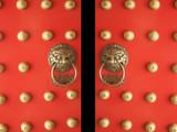 Číňan Temple Dveře vstupního otvoru