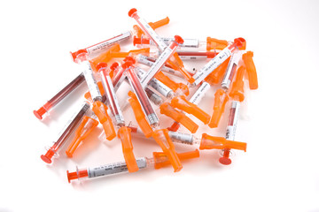 Medical disposable syringes