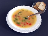 vegetarian vegetable soup and bread poster