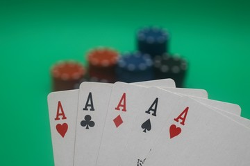 Poker Hand - 5 Aces