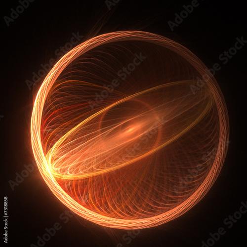 Leinwanddruck Bild sunny circle rays