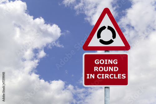 Going Round in Circles Signpost