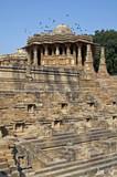 Ancient Hindu Temple at Modhera, India poster