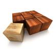 Carre de bois fonce 002