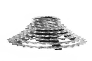 Bike cassette isolated on a white background