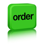 Order Sign - green poster