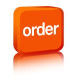 Order Sign - orange poster