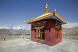 tibetan monastery in muktinath, annapurna circuit, nepal poster