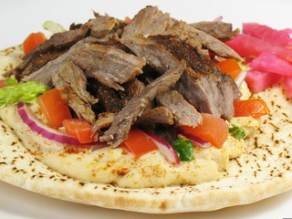 Delicious Shawarma Beef and Pita