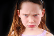 Young Girl Looking Angry