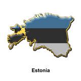 Estonia metal pin badge poster