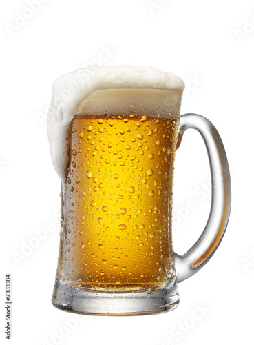 Aluminium Bier mug of beer