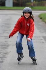 Girl on rollerblades