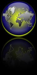 Globe Terrestre Reflet