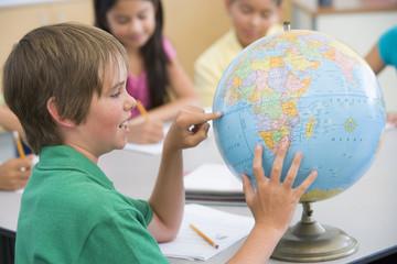 Elementary school geography class