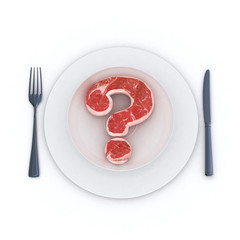 Beef question mark