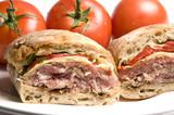 gourmet sandwich on ciabatta bread poster