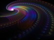 Spiral from the rainbow