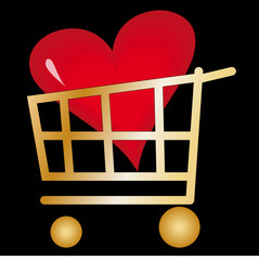 Shopping Trolley with Love Heart