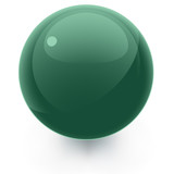 Green Glossy Icon Template Sphere poster