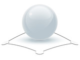 Pearl White Sphere on Abstract Object poster
