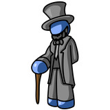 Blue Man President Lincoln poster