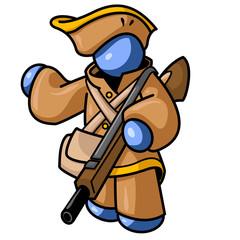 Blue Man Colonial Hunter