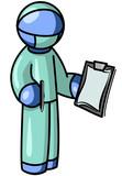 Blue Man Surgeon poster