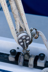 Sailboat Rigging Pulley and Tackle