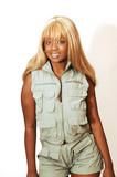 Young Jamaican girl safari overall 90. poster