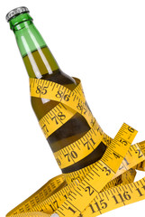 Beer with tape measure