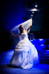 bride in the light of night