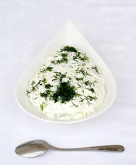 Tzatziki or cucumber and yoghurt salad