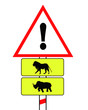 african animal traffic sign
