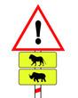african animal traffic sign